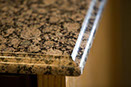 Baltic Brown granite, ogee edge