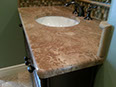 English Walnut marble, 3/8in roundover edge