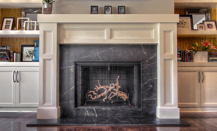 Soapstone fireplace surround
