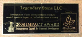 2008 Impact Award from Independence Council for Economic Development