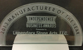 Award for Manufacturer of the Year 2013, Independence, Kansas