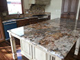 Mascarello granite, demi-bullnose edge