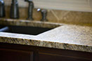 New Venetian Gold granite, eased edge