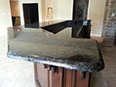 Volga Blue granite, demi-bullnose edge